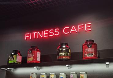Изготовили вывеску для фитнес-кафе