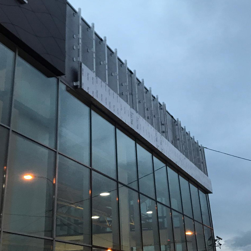 Изготовили вентилируемый фасад на относе без утеплителя