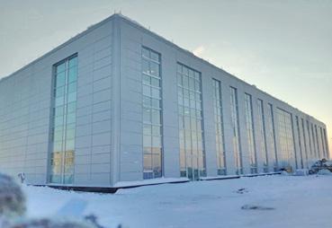 Завершили облицовку спортивного комплекса в г. Ханты-Мансийске
