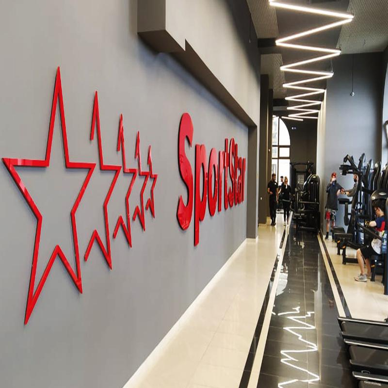 Изготовили звезды для фитнес-клуба SPORTSTAR, нашего постоянного клиента