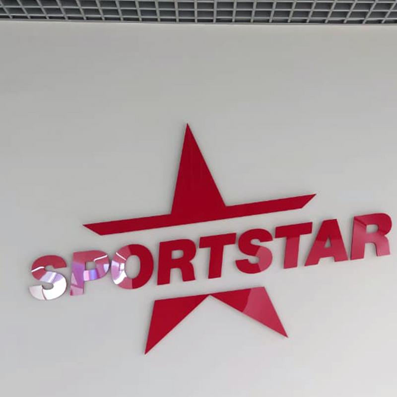 Изготовили несветовые звезды для фитнес-клуба SPORTSTAR